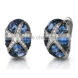 Wholesale Gemnel jewellery brass alloy fashion silver stud earrings