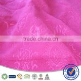 3D Flower Embossing Polyester Viscose Blend Double Brushed Embossing Fabric