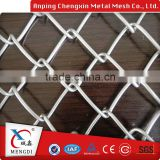 Home Garden Used Hot Dipped Galvanized / Black Vinyl Coated Chain Link Fence