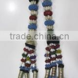 Vintage Designer Hand Embroidered Beaded Banjara Tassel Tribal Old Key Chain