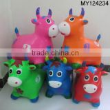 plastic PVC inflatable jumping animals/ jumping horse.cow.deer / rides on animal for kids
