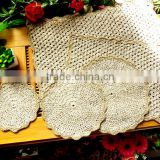handmade square crochet doilies,American village coffee table mat