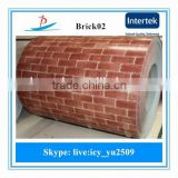 2015 new pre-painted brick grain ppgi steel coils/color coated steel coils/brick grain ppgi