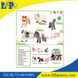 9 inches soft cartoon farm animal toy for children