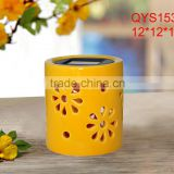 Resin Outdoor Solar LED Candle Jar