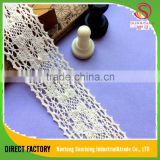 [NTSUNRISING] factory supply wholesale 4CM cotton dress lace for lingerie/dress/Garment/Underwear/cap/bag
