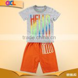 Cheap price made in china boy shirt and short
