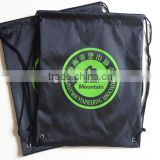 Customized wholesale cheap promotional nylon polyester drawstring sports backpack shoe bag