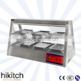 Restaurant kitchen equipment buffet equipment electric 1.2M stainlss steel food warmer display for catering