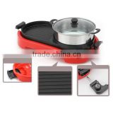 WIth S/S steam pot Teppanyaki +Hot Pot electric grills