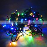 Solar 100leds flash lamp outdoor courtyard Colorful holiday decorations hanging tree solar outdoor led string Light