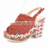 Wholesale women wedge shoes casual ladies wedge shoes sexy fashion wedges sandal shoes for 2014