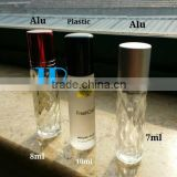 Diamond Lattice roll on ball perfume bottle glass bottle deodorant bottle                                                                         Quality Choice