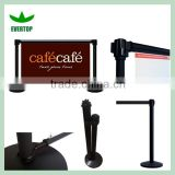 TS-CB03 Customizable sidewalk cafe banner and barriers,printed cafe barriers with multiple color banners