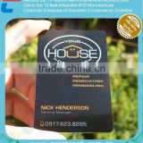 High End Black Anodized Stainless Steel Metal Member Card