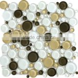 GR1004 bamboo mosaic tiles crystal glass mosaic 25x25x4mm granite pattern mosaic