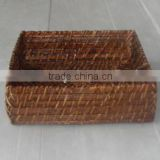 Bamboo woven square tray