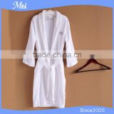 100% cotton shawl collar popular style velvet pile hotel bathrobe