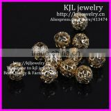 KJL-BD5323 Fashion Gold Plated Net Ball Spacer Big Hole Charm Beads Fit DIY European Bracelets 9x9mm