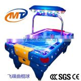 Blue Air hockey table coin operated electronic scorer arcade redemption kids game machine with LED lights
