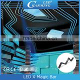 Ring shape design led X magic bar curtain display madrix control 3d effect club party led