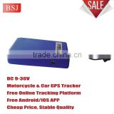 Mini vehicle GPS Tracking device for Motorcycle abd vehicle with LBS tracking and power saving model