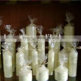 different size memorial candles