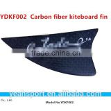 carbon fiber + 3K surface fins surfboard fins kitboard fin customized logo fin high quality fin YDKF002