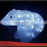 Crystal 3D Sculpture Pole Bear LED Christmas Light