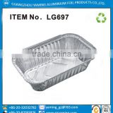 foil container 650ml food use take away aluminium foil container with lid use for airline restaurant family house hold