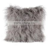 Plush Tibet Lamb Fur Pillow