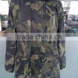 free sample garment washed 100% cotton hunting camouflage jacket spring jacket for women