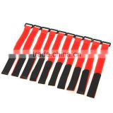 10Pcs 30cm Magic Tape Strap Strap Antiskid for Lipo Battery of RC Aircraft Vehicle Boat (red)