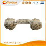 Natural Rope Bone For Dog, Dog Chew Bone, Made of natural Cotton and Berlap Blend, Size: W7.0*H22*D7.0cm
