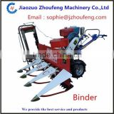 Small diesel engine wheat and rice reaper binder bunding machine