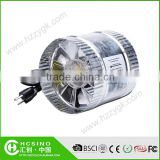 6 inch Hydroponics Garden Straight Fan Blower/Galvanize Steel Reversible Booster Fan/ Inline Duct Fan