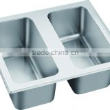 Stainless Steel Double Bowl Gastronorm Pan GR-503-2