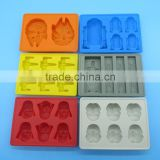 FDA food grade non stick bpa free wars lego star silicone chocolate molds cartoon wholesale
