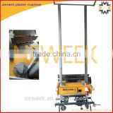 Neweek automatic lifting rack type indoor wall putty lime cement plaster machine