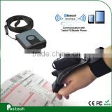 MS3391 Glove or bracelet design Mobile 1D Mini Bluetooth CCD barcode Scanner, bar code reader for Android Tablet PC IOS