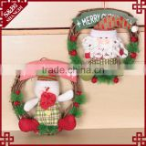 Door or wall decor hanging style wicker craft christmas wreath decorative