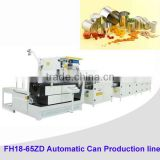 Automatic tin can food production line