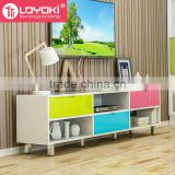 Hot sale home furniture Mordern Simple MDF wood TV Media Stand with drawer storage cabinet