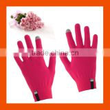 Adult Size Pink Color Touch Screen Smart Gloves