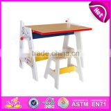 2015 New wooden draw table for kids,stable wooden draw table set for children,educational wooden draw table toy W08G126-x