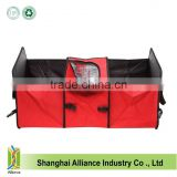 Factory Foldable Multi Compartment Lightweight Car Trunk Storage Basket Organizer With Insulated Cooler Bag