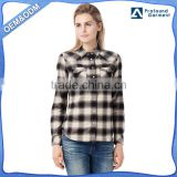 flannel plaid shirt women 2016 custom made long sleeve latest new model dri fit low price shirts for women wholesale