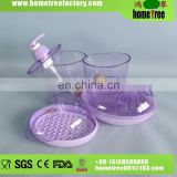 Homeware Purple Oblong Plastic Bathroom Set Price Accessories