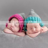 Crochet Twins Newborn Pixie Bonnet Photography Newborn Bonnet,Newborn Baby Hat Crochet Cotton beanie