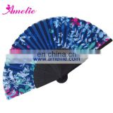 AF1415 Blue style bamboo silk hand handle fans